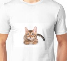 Striped red kitten Bengal cat Unisex T-Shirt
