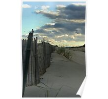 Fence on the Dunes. Poster