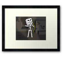 Mine Skeleton  Framed Print
