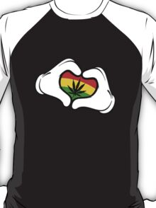Weed Mickey Hand T-Shirt