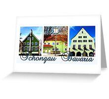 Schongau Bavaria Collage Greeting Card