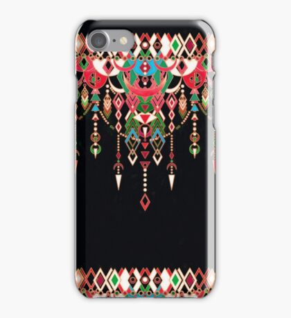 Modern Deco in Red and Black  iPhone Case/Skin