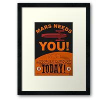 MCAF Recruiting Poster Framed Print