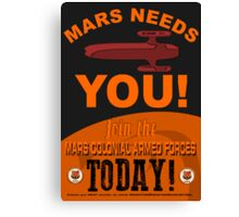 MCAF Recruiting Poster Canvas Print