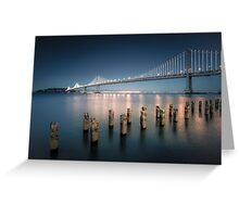 The Bay Bridge Natural Greeting Card