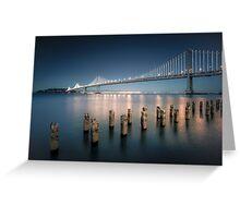 The Bay Bridge Natural Greeting Card