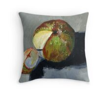 Apple segment Throw Pillow
