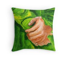 Crossed hands Throw Pillow
