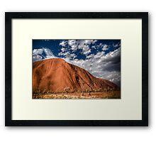 Uluru HDR Framed Print
