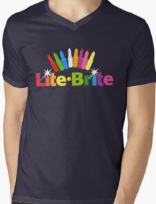 Lite Brite- Retro Toys Mens V-Neck T-Shirt
