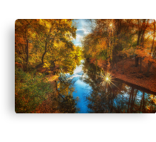 Fall filtered reflections Canvas Print