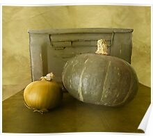 Antique Ammunition Box with Onion and Squash Poster