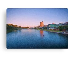 Adelaide Riverbank at Sunset   (ED) Canvas Print