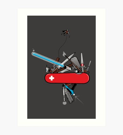 Geek Army Knife Art Print
