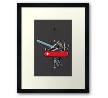 Geek Army Knife Framed Print