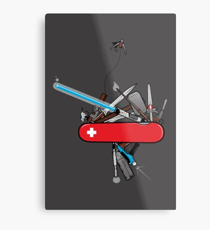 Geek Army Knife Metal Print