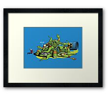 Hideously Mutated Ninja Turtles Framed Print