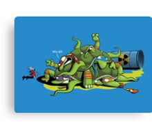 Hideously Mutated Ninja Turtles Canvas Print