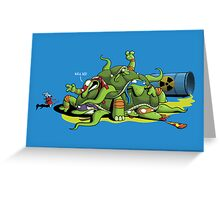 Hideously Mutated Ninja Turtles Greeting Card