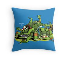 Hideously Mutated Ninja Turtles Throw Pillow