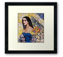 Portrait In Blue Framed Print