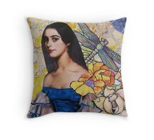Portrait In Blue Throw Pillow