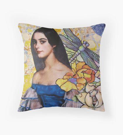 Portrait In Blue Throw Pillow