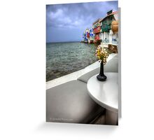 Sea view in Mykonos-Greece  (FEATURED & 2 sales) Greeting Card