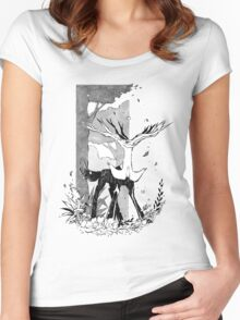 Xerneas Women's Fitted Scoop T-Shirt