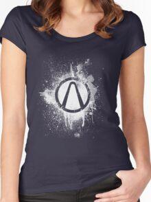 Vault Logo Splatter [V2] Women's Fitted Scoop T-Shirt
