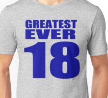 Peyton Manning - 18 - Greatest Ever (text top) Unisex T-Shirt