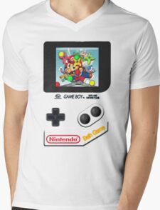 Gameboy Bath Game Mens V-Neck T-Shirt