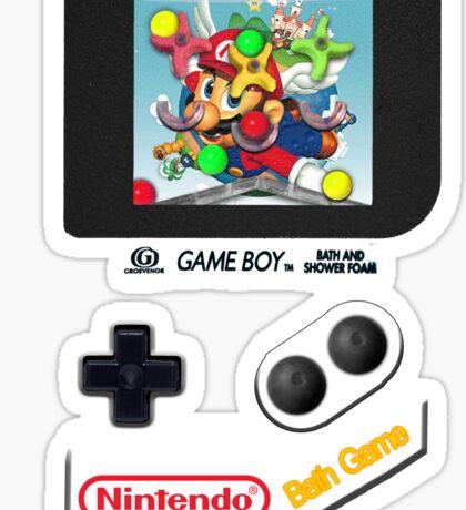 Gameboy Bath Game Sticker