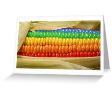 Rainbow Corn Greeting Card