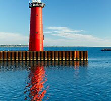 Kenosha Wisconsin Pierhead Lighthosue by Kenneth Keifer