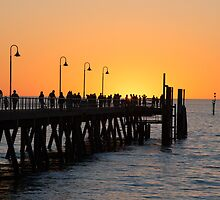 Sunset Pier II by Ray Warren