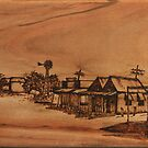 Pyrography: Dust Storm Approaching by aussiebushstick