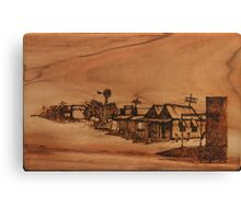Pyrography: Dust Storm Approaching Canvas Print