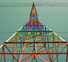 Rainbow Power Line by KittyBitty1