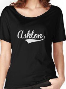 Baseball Style Ashton White) Women's Relaxed Fit T-Shirt