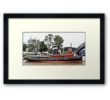 'FORCEFUL', A BOAT WITH HISTORY Framed Print