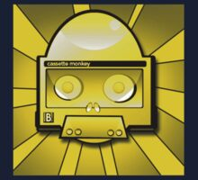 golden cassette monkey by tetrahedron