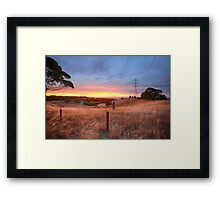 Chandlers Hill Sunset Framed Print