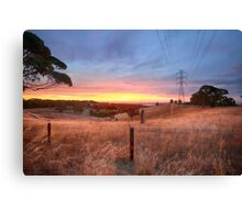 Chandlers Hill Sunset Canvas Print