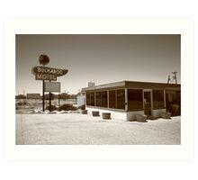 Route 66 - Buckaroo Motel Art Print