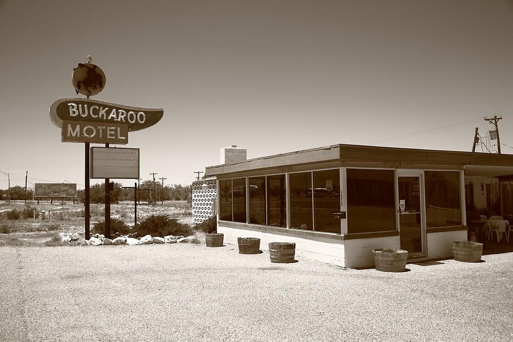 Route 66 - Buckaroo Motel by Frank Romeo