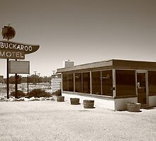Route 66 - Buckaroo Motel by Frank Romeo