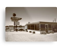 Route 66 - Buckaroo Motel Metal Print