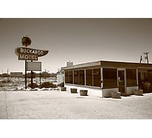 Route 66 - Buckaroo Motel Photographic Print