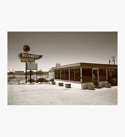 Route 66 - Buckaroo Motel Photographic Print